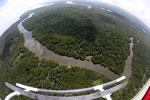 Borneo rainforest river -- sabah_aerial_0039