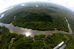 Borneo rainforest river -- sabah_aerial_0040
