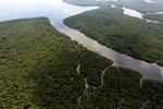 Borneo rainforest river -- sabah_aerial_0042