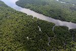 Borneo rainforest river -- sabah_aerial_0044
