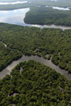 Borneo rainforest river -- sabah_aerial_0045
