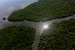 Borneo rainforest river -- sabah_aerial_0048