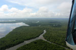 Borneo rainforest river -- sabah_aerial_0052