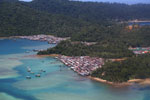 Fishing village on Pulau Gaya off Kota Kinabalu