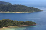 Beaches, coral reefs, and rainforests off Borneo -- sabah_aerial_0107