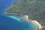 Beaches, coral reefs, and rainforests off Borneo -- sabah_aerial_0115