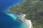 Beaches, coral reefs, and rainforests off Borneo -- sabah_aerial_0118