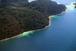 Remote tropical beach in Borneo -- sabah_aerial_0132