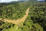 Borneo rainforest river -- sabah_aerial_0174