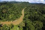 Borneo rainforest river -- sabah_aerial_0176