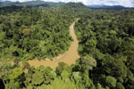 Borneo rainforest river -- sabah_aerial_0178