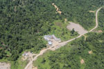Logging camp in Borneo