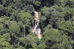 Remote waterfall in Borneo