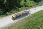 Logging truck in Borneo -- sabah_aerial_0943