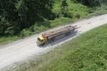 Logging truck in Borneo -- sabah_aerial_0944