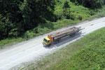Logging truck in Borneo