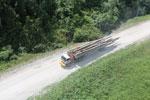 Logging truck in Borneo -- sabah_aerial_0947