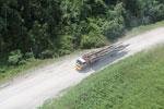 Logging truck in Borneo -- sabah_aerial_0948