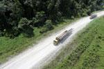 Logging truck in Borneo -- sabah_aerial_0949