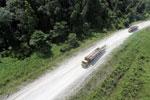 Logging truck in Borneo -- sabah_aerial_0950