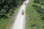 Logging truck in Borneo -- sabah_aerial_0955