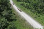 Logging truck in Borneo -- sabah_aerial_0959