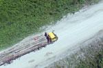 Logging truck in Borneo -- sabah_aerial_0961