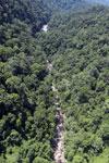River below Maliau Falls -- sabah_aerial_1434