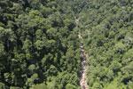 River below Maliau Falls -- sabah_aerial_1435