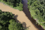 River muddied by upstream deforestation in Borneo