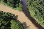 River in Borneo muddied by upstream deforestation -- sabah_aerial_1525
