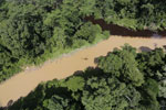 River in Borneo muddied by upstream deforestation
