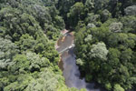 Waterfall in Imbak Canyon -- sabah_aerial_1900