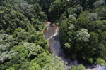 Waterfall in Imbak Canyon -- sabah_aerial_1902