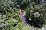 Waterfall in Imbak Canyon -- sabah_aerial_1903