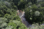 Waterfall in Imbak Canyon -- sabah_aerial_1904