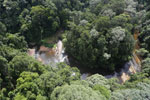 Waterfall in Imbak Canyon -- sabah_aerial_1907
