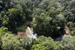 Waterfall in Imbak Canyon -- sabah_aerial_1911
