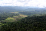 Deforested rainforest valley