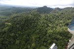 Heavily logged rainforest with an oil palm plantation in the distance -- sabah_aerial_2795