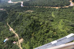 Forest degradation along the Kinabatangan River  -- sabah_aerial_2948