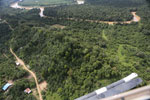 Forest degradation along the Kinabatangan River  -- sabah_aerial_2951